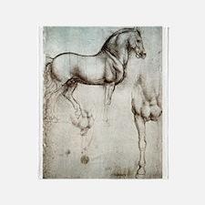 Study of Horses Throw Blanket