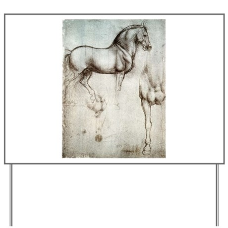 Study of Horses Yard Sign