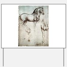 Study of Horses Yard Sign