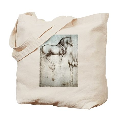Study of Horses Tote Bag