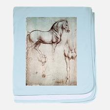 Study of Horses baby blanket