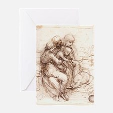Study of St Anne, Mary, the C Greeting Card