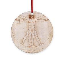 Vitruvian Man Ornament (Round)