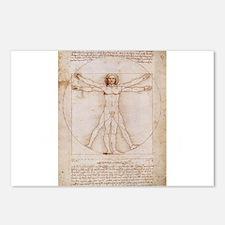 Vitruvian Man Postcards (Package of 8)