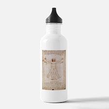 Vitruvian Man Water Bottle