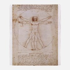 Vitruvian Man Throw Blanket