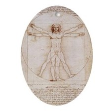 Vitruvian Man Ornament (Oval)