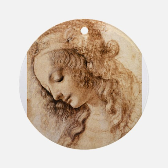 Womans Head Ornament (Round)