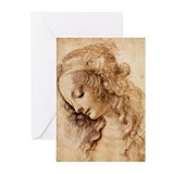 Da vinci artworks Greeting Cards (20 Pack)
