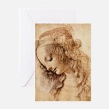 Womans Head Greeting Cards (Pk of 20)