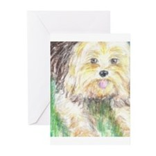 Portrait of a Yorkie Greeting Cards (Pk of 10)