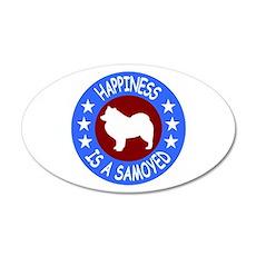 Samoyed 22x14 Oval Wall Peel