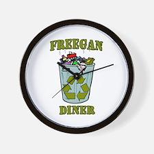 Freegan Diner Wall Clock