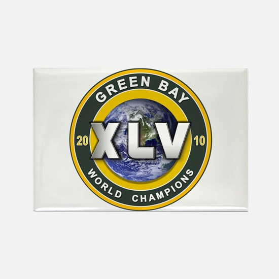 Green Bay 2010 World Champs Rectangle Magnet