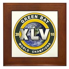 Green Bay 2010 World Champs Framed Tile