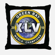 Green Bay 2010 World Champs Throw Pillow