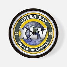 Green Bay 2010 World Champs Wall Clock