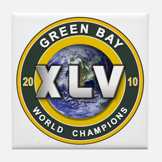 Green Bay 2010 World Champs Tile Coaster