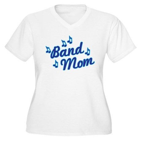 Band Mom Women's Plus Size V-Neck T-Shirt