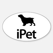 Clumber Spaniel Oval Decal