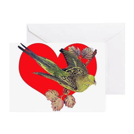 Parakeet Love Greeting Card