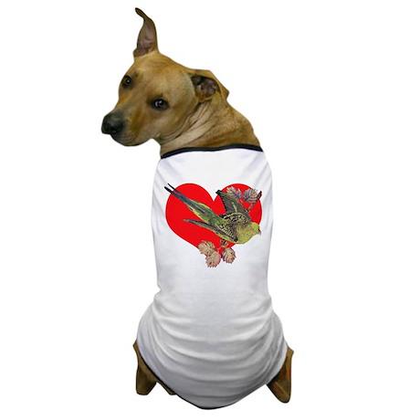 Parakeet Love Dog T-Shirt