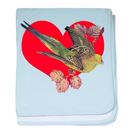 Parakeet Love baby blanket