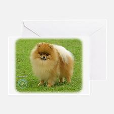 Pomeranian 8T087D-06 Greeting Card