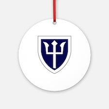 Trident Ornament (Round)