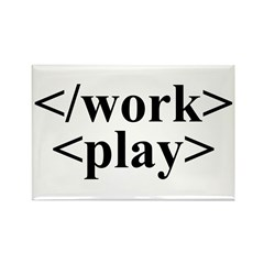 End Work Begin Play Rectangle Magnet (10 pack)