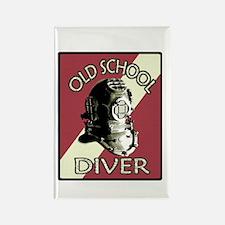 OLD SCHOOL DIVER Rectangle Magnet