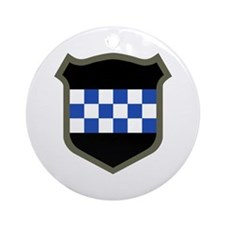 Checkerboard Ornament (Round)