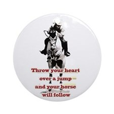 Show Jumper Ornament (Round)