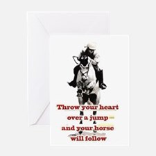 Show Jumper Greeting Card