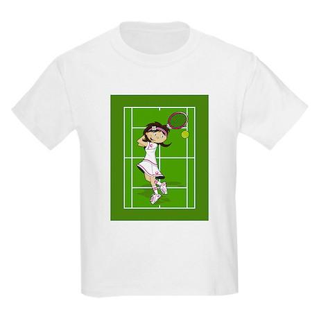 Cute Tennis Girl Kids Light T-Shirt