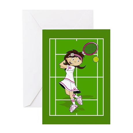 Cute Tennis Girl Greeting Card