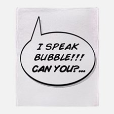 Funny Speech bubbles Throw Blanket