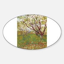 Cherry Tree Sticker (Oval)