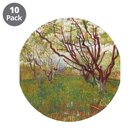 "Cherry Tree 3.5"" Button (10 pack)"