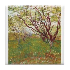 Cherry Tree Tile Coaster
