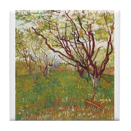 Cherry Tree Tile Coaster