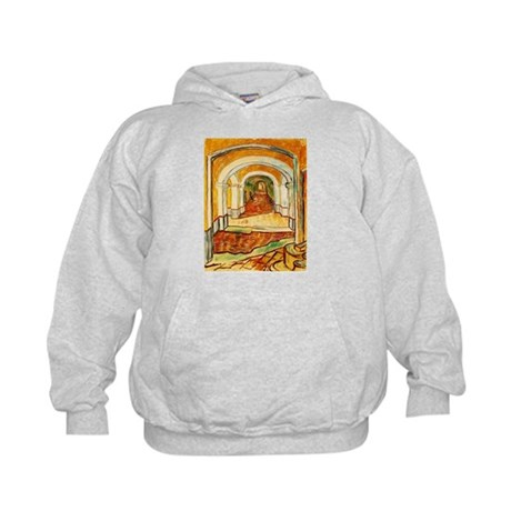 Corridor in the Asylum Kids Hoodie