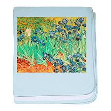Irises baby blanket