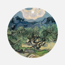 Olive Trees with the Alpilles Ornament (Round)