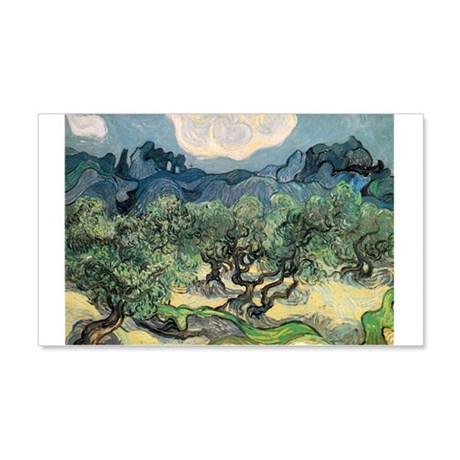 Olive Trees with the Alpilles 22x14 Wall Peel