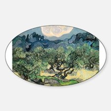 Olive Trees with the Alpilles Sticker (Oval)