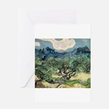 Olive Trees with the Alpilles Greeting Card
