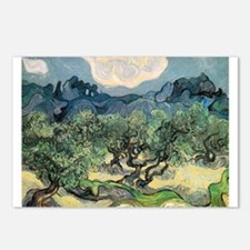 Olive Trees with the Alpilles Postcards (Package o