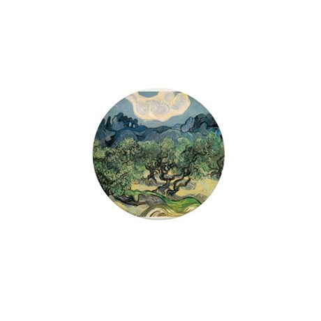 Olive Trees with the Alpilles Mini Button (100 pac