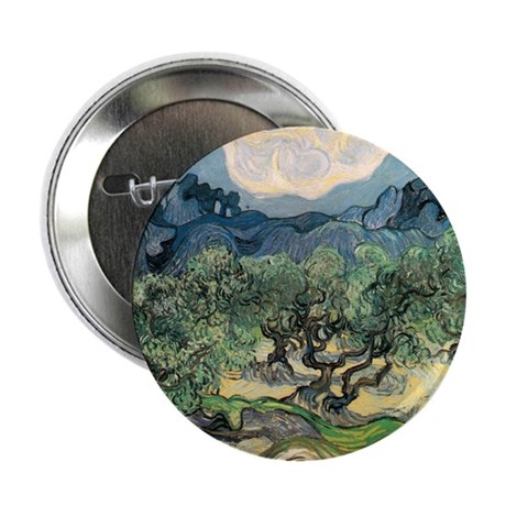 """Olive Trees with the Alpilles 2.25"""" Button"""